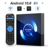 Android TV Box, QPLOVE Q6 Android 10.0 TV Box 4GB RAM 32GB ROM H616 Quad-Core CPU Dual WiFi...