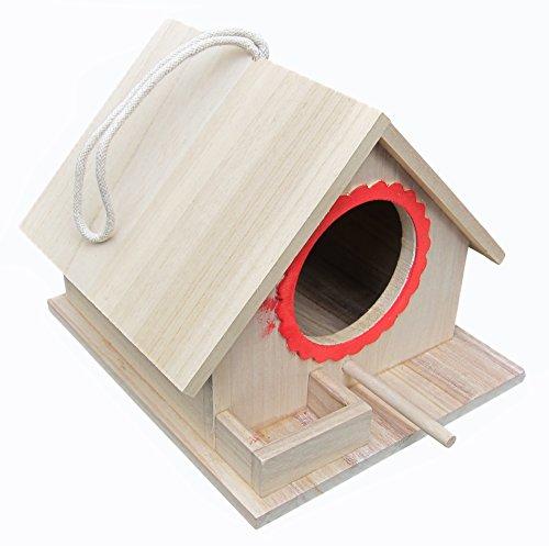 FITOOL Vogelfutterhaus, Vogel-Nistkasten, montiert (gebrauchsfertig), für große Vögel wie Papageien, Tauben, Tauben sowie kleine Vögel wie Spatzen, Meisen, Lark etc.