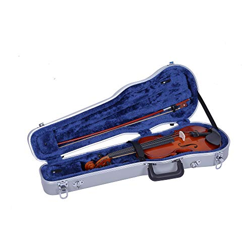 Crossrock 1/4 Violin Case-Backpack Style in Silver (CRA800SVQSL)