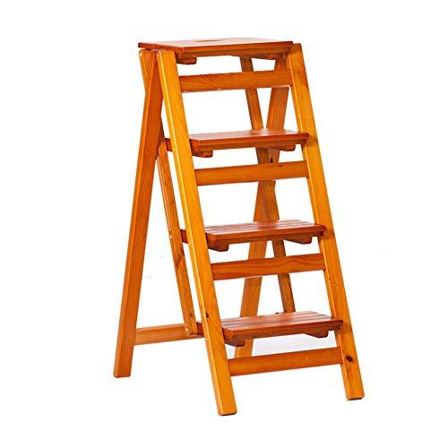 QQXX klapladder stoel trap opstap keuken 4-traps kruk ongekoeld houdbaar glad oppervlak hout dikken, 4 kleuren (kleur: C, afmetingen: 42x68x92cm) 4 4