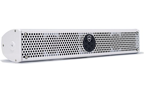 Wet Sounds Stealth 6 Ultra HD White All-in-one Amplified Soundbar with Remote (Renewed)