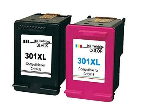 Kit de 2 Cartuchos para HP 301 XL compatibles con Envy 4500 5530 Deskjet 1050 1510 2050 2510 2540 Officejet 2620