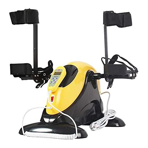Control Remoto Fitness Motorizado eléctrico Mini Bicicleta estática/Pedal ejercitador, Bicicleta estática motorizada, Pedal ejercitador/Equipo de rehabilitación para piernas, Brazos y Rodillas E