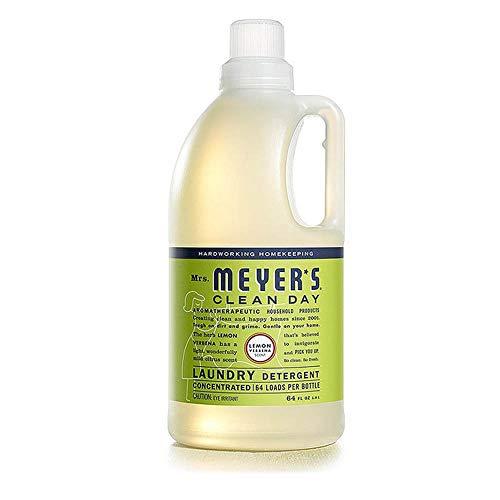 Mrs. Meyer's Clean Day Detergente Líquido para Ropa, Contiene Ingredientes de Limpieza de Origen Vegetal, Verbena de Limón, 1.89 L