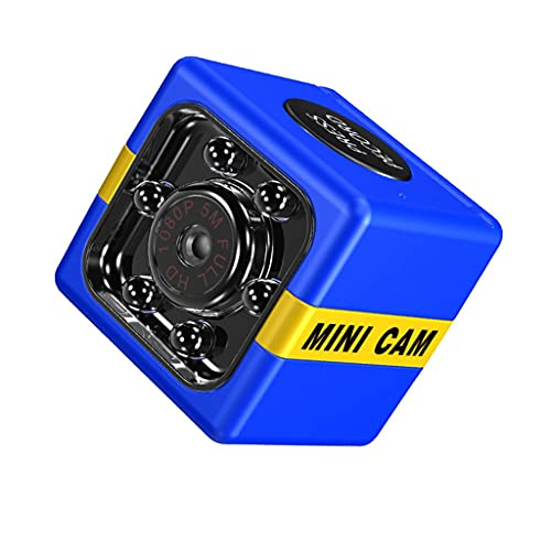 YUYAN Mini caméra 1080p (sans Carte mémoire) 1080p HD Sports aériens en Plein air DV Petite caméra Home Sécurité Bleu