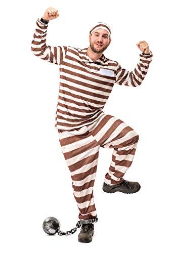 Original Replicas Vintage Sträflingskostüm - Häftling Anzug Set - Gefängnis Kostüm für Männer L - XS bis 3XL