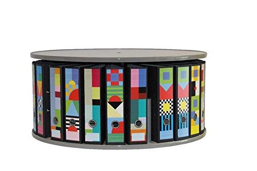 reef RT081B1 Tisch-Ordnersäule 81 cm durchmesser, 1 Etage, grau