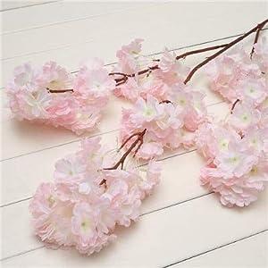 Artificial and Dried Flower Fake Cherry Blossom Flower Brah Begonia Sakura Tree Stem Event DIY Wedding Tree Decor Artificial Decorative Flowers