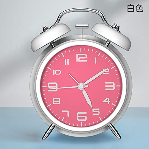 hlyhly Digitaluhr wecker Alarm digital Alarm Clock Bedside Luminous Student Silent Creative Clock-Braille White 4 inches_4 inches