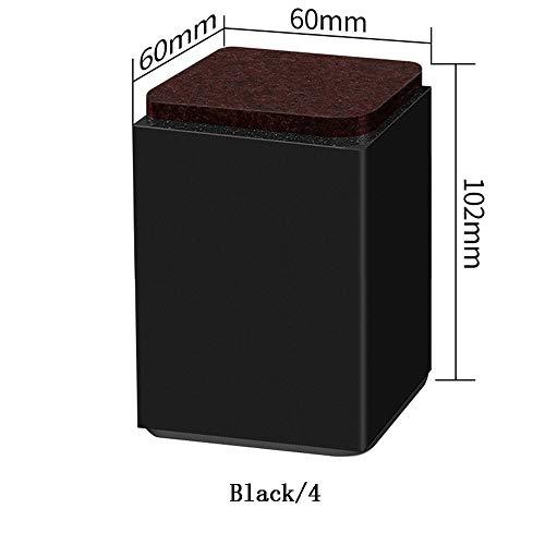 N\A DWFF Acero al Carbono Almohadilla de la Pata de Mesa sofá Aumentado Tabla Almohadilla Mayor Plataforma de Muebles Pata Mesa Silla Pata de la Cama del pie Mesa de pie de Altura de Bloque