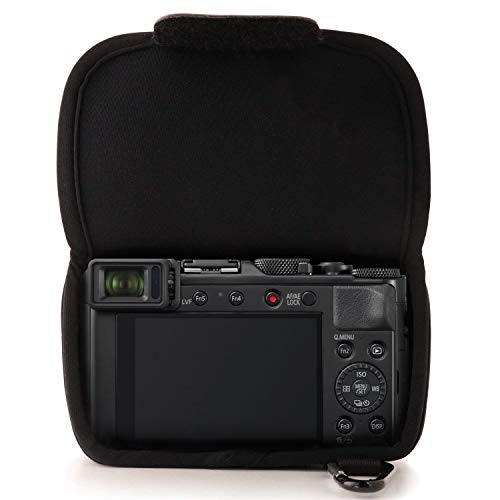 Panasonic LUMIX DC-LX100II Premium Digitalkamera (21,77 MP, 24-75mm Leica DC Vario Summilux Objektiv) & MegaGear MG835 Panasonic Lumix DC-LX100 II, DMC-LX100 Ever Ready Leder Kamera-Case, Schwarz