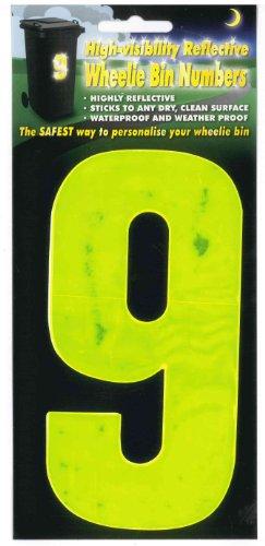 Numéros de poubelle WBN HiVis jaune 9