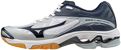 Mizuno Women s Wave Lightning Z2 Volleyball Shoes White Navy Women s Size 11 5 product image