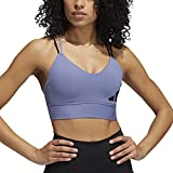 adidas All Me 3Bar Logo Bra Sujetador Deportivo, Orbit Violet/Ambient Blush, M para Mujer