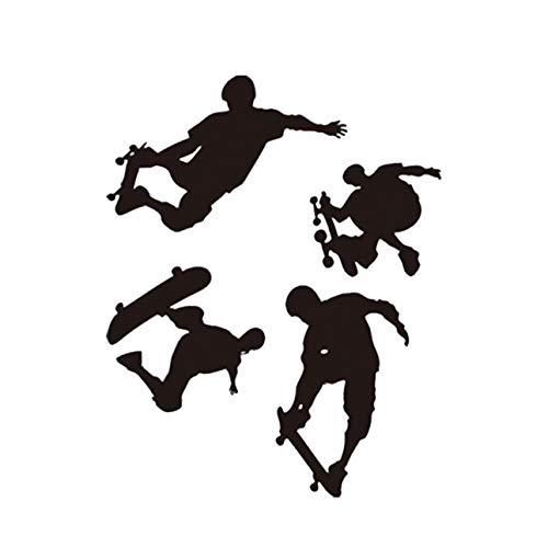 Ballylelly-Kreative Skater Boy Aufkleber Abnehmbare PVC Wandaufkleber Kunst Zimmer Wandhauptdekoration Zubehör Wohnzimmer Schlafzimmer Poster
