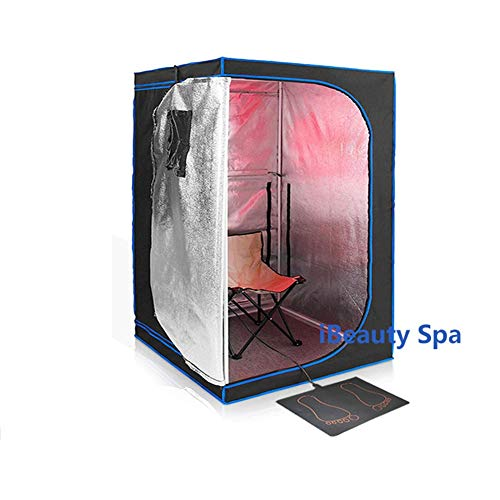 GFSD Home Portable Infrarot Sauna Steam SPA Massagebad Hot Tub Saunenzelt Persönlicher Schlankheits-Körperdampfer (Color : Schwarz)