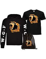 CLOTHING Felpa con Cappuccio Lyon + T-Shirt Maglietta e Sacca Lyon Team WGF WhenGamerFail Kit