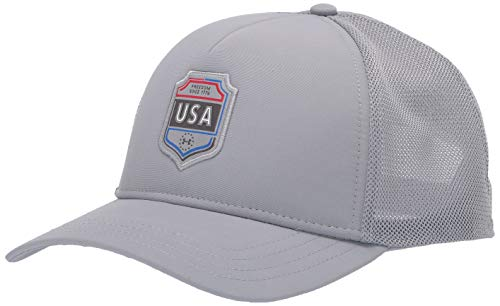 Under Armour Men's Freedom Trucker Hat, Steel (035)/ Steel, One Size Fits all
