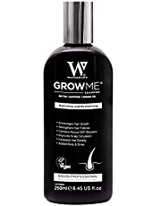 Grow Me® Shampoo för hårtillväxt, sulfatfritt, vegan, koffein, biotin, arganolja, allantoin, rosmarin. Stimulerar hårväxt, perfekt för långsamt växande hår - Hårtillväxtproblem för män och kvinnor