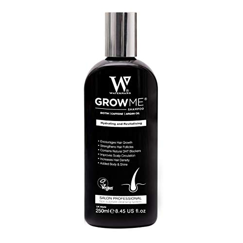 Meilleur shampooing de croissance capillaire sans sulfate, caféine, biotine, huile d'argan, allantoïne, romarin. Stimule la re-croissance des cheveux, aide à arrêter la perte de cheveux, fait pousser
