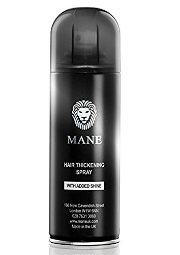 Mane USA Hair Thickening Spray with Added Shine (200ml) (Black)