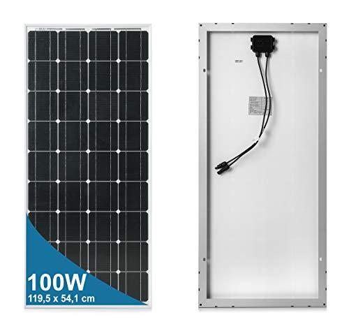100 Watt 12 Volt Pannello Solare Monocristallino