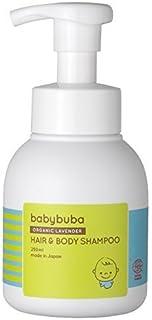 babybuba (ベビーブーバ) オーガニック ベビーシャンプー ヘア&ボディ 泡タイプ ベビースキンケア 全身 リラックス効果 日本産 (新生児から使える)