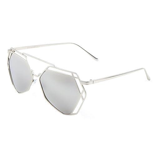 a27633b97a3 Geometric Wire Metal Lattice Frame Sunglasses