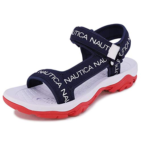 Nautica Men's Sandals, Open Toe Athletic Water Shoes with Strap-Augustus-Navy-13