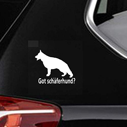 14,5 x 12,2 cm Got herderhond? Duitse herderhond sticker auto sticker voor auto laptop raam sticker
