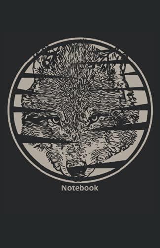 Notebook: Cuaderno A5 forrado con motivo de lobo Computadora portátil