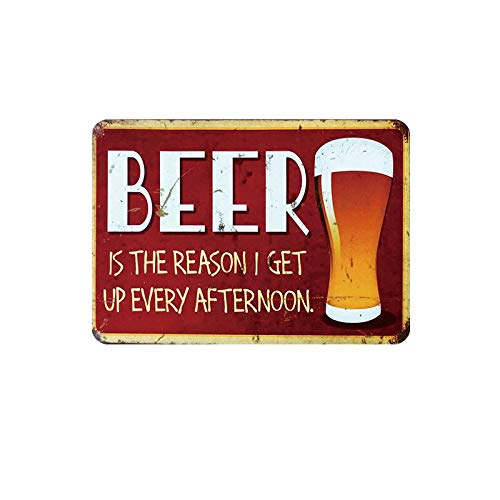 Group therapy practiced here. Beer metal sign vintage tin plate painting wall decoration for bar pub cafe gym home 20 * 30cm