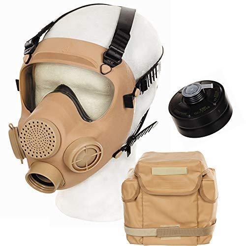 ORIGINAL POL. ARMEE SCHUTZMASKE MP5 FILTER & TASCHE ARMY ABC ATEMSCHUTZ GASMASKE, Farbe:Coyote