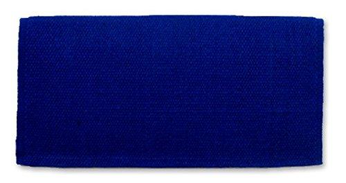 Mayatex San Juan Solid Barrel Racer/Arab Saddle Blanket, Royal Blue, 34 x 30-Inch