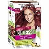 Garnier Nutrisse Nourishing Color Foam Permanent Haircolor, Light Ultra Intense Red 6UR (Pack of 3)