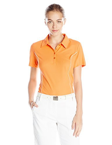Greg Norman Collection Women's Piped Polo Shirt, Nectarine, XX-Large