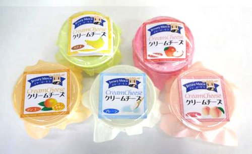 ジャージーモコクリームチーズ 5個セット (プレーン バナナ マンゴー リンゴ 白桃)