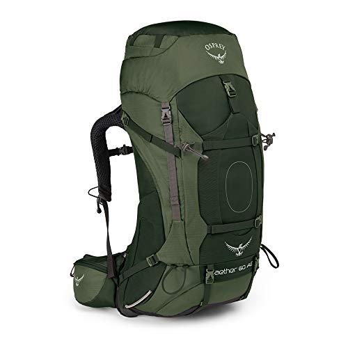 Osprey Aether AG 60, sac de grande randonnée homme - Adirondack Green (LG)
