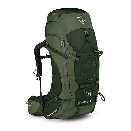 Osprey Aether AG 60 Men's Backpacking Pack -  Adirondack Green (MD)