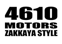 4610 MOTORS ZAKKAYASTYLE BK/カッティングステッカーブラック シロウトモータース雑貨屋スタイル