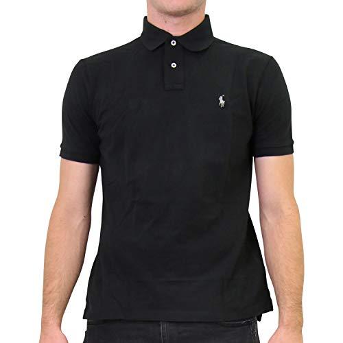 Ralph Lauren Herren Custom-Slim-Fit Poloshirt Schwarz XL
