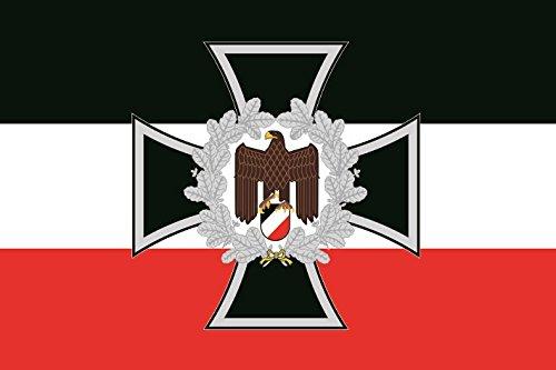U24 Aufkleber Eisernes Kreuz mit Adler Deutschland Flagge Fahne 8 x 5 cm Autoaufkleber Sticker
