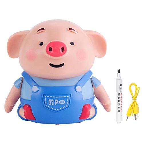 OUTEYE Inductiva Lindo del Cerdo del Coche Juguetes autoinducción Cerdo Seguir Drawn Línea Animales de Juguete de Regalo de los niños