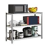 ZWJLIZI 3-estantería estantería, multifunción 201 de Acero Inoxidable pequeño de Almacenamiento en Rack de Cocina Cocina Sala de Estar Cuarto de baño Oficina (Size : 60x40x80cm)
