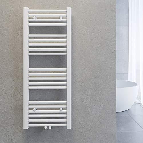SONNI Handtuchtrockner Heizkörper Bad Mittelanschluss Handtuchwärmer Badheizkörper Weiß Gerade 40 * 100cm