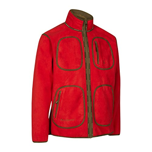 Deerhunter Gamekeeper Reversible Fleece Jacke Rot Größe S