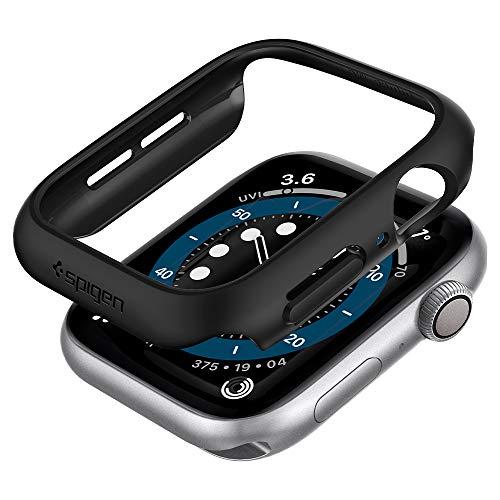 Spigen Thin Fit Kompatibel mit Apple Watch Hülle fur 44mm Serie 6/SE/5/4 - Schwarz