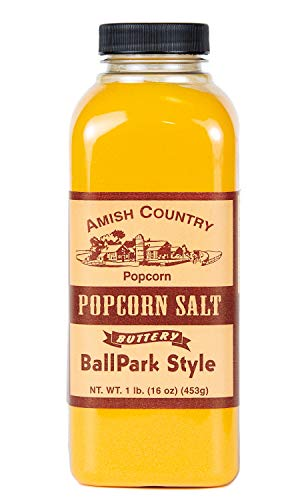 Great Deal! Amish Country Popcorn | Ballpark ButterSalt Popcorn Salt - 16 oz | Old Fashioned with Re...