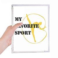 バランスのとれた体操競技 硬質プラスチックルーズリーフノートノート