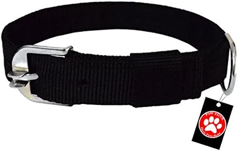"Pawzone 1 Inch Black Dog Collar"""